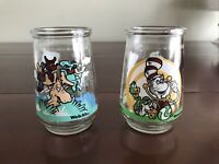 Vintage Lot of 2 Welch's Jelly Jar Glasses Dr. Suess Cat in the Hat & Thidwick