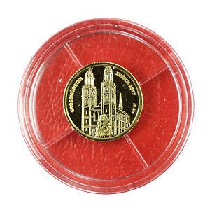 01081 Congo Coin 100 Francs 2017 Grossmünster Zurich 1/3 g Gold .999 Proof