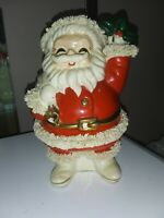 Vintage 6.5x4.5x4 Napco 1950 Santa Bank With Spaghetti Trim Japan