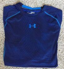 Under Armour Heatgear Compression Blue Crewneck Long Sleeve Shirt Sz Medium
