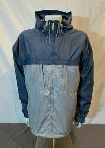 Burton Blue & Gray Waterproof Breathable Hooded Shell Jacket Men's XL GREAT