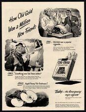 1944 OLD GOLD Cigarettes - Meat Seller - Butcher - Pilot - Retro VINTAGE AD