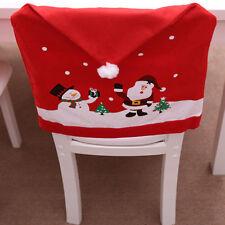 Lovely Non-woven Christmas Dinner Decoration Christmas Decoration Chair Cover AU
