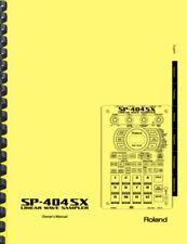 Roland SP-404SX Sampler OWNER'S MANUAL