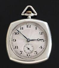 Rare Open Face Solid Silver Pocket Watch c1910 / montre gousset