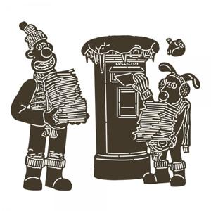 Wallace & Gromit Sending Christmas Joy Metal Craft Die Set - Aardman - Brand New