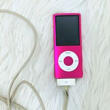 Ipod Nano 4th Gen 8 GB Pink with Cord and Music Downloaded A1285 2008 Apple