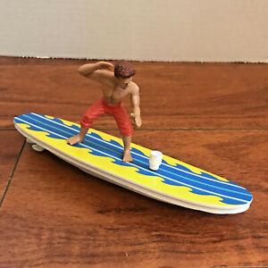 Schylling WIND UP SURFER Dude Guy Water Toy Bath Surfing Ron Jon Surf Surfboard