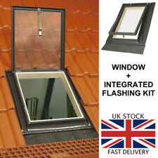 Skylight Access 46 x 75 cm Top Hung Roof Window Loft Rooflight + Flashing Kit
