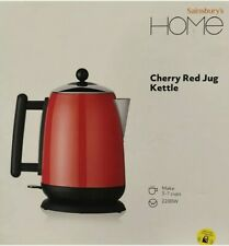 Sainsbury's HOME Cherry RED KETTLE