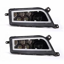 2PC CREE ATV LED Headlight White DRL Hi/Lo Beam For Polaris RZR 900 XP1000 TURBO