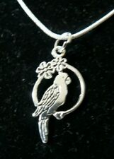 Parrot necklace ( CHARLES P PARROT)  sterling silver chain