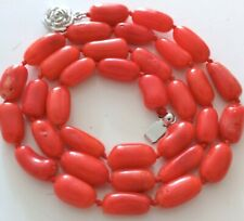 """BEAUTIFUL CORAL NECKLACE, 18"""" long"""