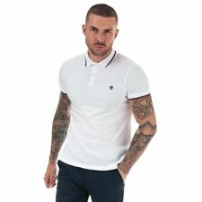 Men's Timberland Millers River Tipped Slim Fit Short Sleeve Polo Shirt in White