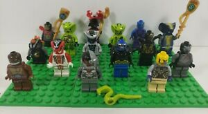 15 Lego Ninjago Minifigure Mixed Lot Venomari Tribe, Bytar , Serpentine and More