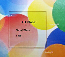 ITO Glass Transparent Conducting glass:  8 pieces 50mm X 50mm ; 10 ohm/sq