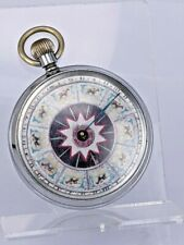 More details for a rare horse racing gambling spinner in pocket watch type case