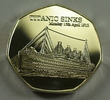 RMS TITANIC SINKS 1912 NEWSPAPER Collectors Token/Medal Fine Silver. White Star