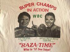 VTG 'Ultimate Glory' De La Hoya Vs Chavez 1996 T-Shirt, White, Unisex, Men's XL