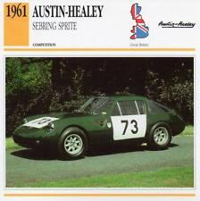 1961 AUSTIN HEALEY Sebring Sprite Racing Classic Car Photo/Info Maxi Card