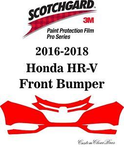 3M Scotchgard Paint Protection Film Pro Serie Fits 2016 2017 2018 Honda HRV HR-V