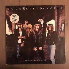 ROCK CITY ANGELS Young Man's Blues 1988 UK vinyl LP EXCELLENT CONDITION