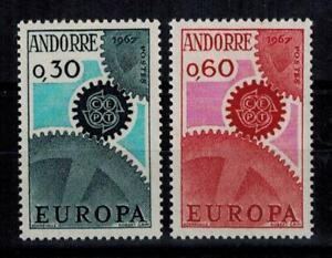 "(b7)  timbres d'Andorre Français n° 179/180 neufs** année 1967 ""europa"""