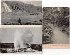 3 Early NEW ZEALAND  Paparoa  Wanganui Wairoa Whakarewarewa Gisborne Postcards