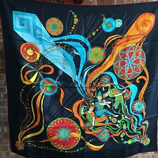 HERMES 'LA DANSE DU COSMOS' BY ZOE PAUWELS SILK SCARF CARRE NEW WITH TAG