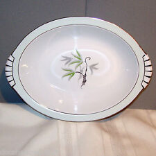 Narumi SOUTHWIND Oval Vegetable Bowl White Porcelain China made in Japan