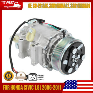 AC Iron Compressor Replacement for Honda Civic 1.8L 2006-2011 38810RNAA02