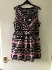 Dress Size Uk 18.Eur 46.Ladies.Black Multi.By Dorothy Perkins.New.Summer Holiday