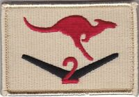 Army Australia RTF2 Afghanistan Deployment Patch hook backing