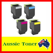 4x Toner Cartridge for Lexmark CX410 CX510 CX410DE CX510DHE 808HK 808HC 808HM