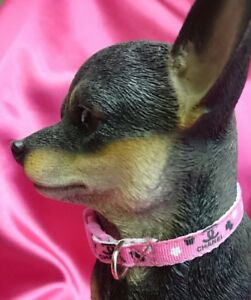 "XXX SMALL DOG COLLAR 6""-8"" NECK.  Micro dog, T Cup. FREE FABRIC DESIGN."