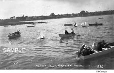 1930's Cape Porpoise Harbor Pond Boat Sailboat Racing