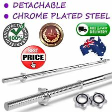 168cm Weight Barbell Bar w/ Spring Collars 28mm Hole