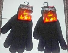 Womens Thermal Gloves One Size Black Warm Insulated Cosy