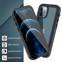 For iPhone 12 Pro Max 12 Mini Waterproof Clear Case Cover With Screen Protector