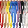 Plus Size Jumpsuit Womens Sheer Nylon Bodysuit Super Shiny Bodyhose Bodystocking