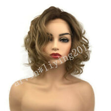 Fashion Woman lace front wig Ladies grey mix Short curly synthetic wigs