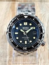 Diver's Watch Seiko Tuna Aftermarket Case & Dial MOD Stainless Steel Homage UK