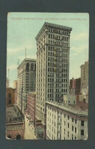 1915 Post Card Chicago IL The Majestic Theater 20 Stories High