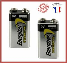 Piles 9V 6F22 6LR61 MN1604 4022 E-Block 9 Volts Alcaline Industrial Energizer X2