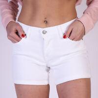 Levi's Soft Weiß Denim Mid length Damen Jeanshorts Größe 34 W26