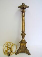 Base Lamp Bronze Character Carved Claw Paw Lion Xixè Style Empire