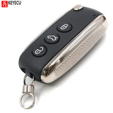 Pair 3 Button Replacement Uncut Folding Remote Key Shell Case Fob for Bentley