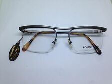 ROMEO GIGLI occhiali da vista vintage nylor argento satinato RG55 unisex glasses