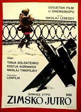WINTER MORNING 1967 RUSSIAN WWII SOLDATENKOVA KORNAKOV LEBEDEV EXYU MOVIE POSTER