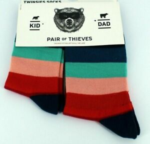 Twinsies - Pair of Thieves Dad (Size 8-12) Kid (4yrs - 8yrs) Matching Socks